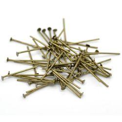 Head Pins, Antique Bronze - Economy Range