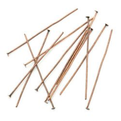 Head Pins, Antique Copper, - Economy Range