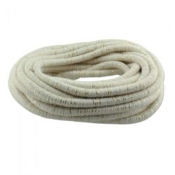 Fibre Wrapped Cord 5mm, Ivory and Gold Tones, 5 metres
