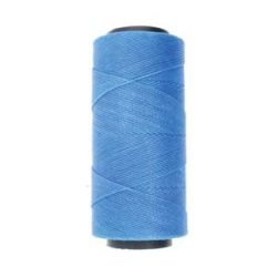 Knot it Waxed Poly Cord 2ply (1mm) - Azure Blue 144 metres
