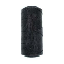 Knot it Waxed Poly Cord 2ply (1mm) - Black 144 metres