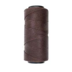 Knot it Waxed Poly Cord 2ply (1mm) - Cedar Brown 144 metres - Beadsmith