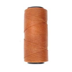 Knot it Waxed Poly Cord 2ply (1mm) - Chestnut 144 metres - Beadsmith