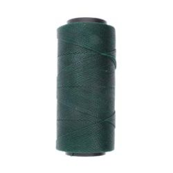 Knot it Waxed Poly Cord 2ply (1mm) - Dark Green 144 metres - Beadsmith