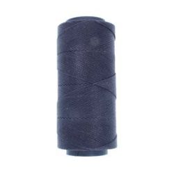 Knot it Waxed Poly Cord 2ply (1mm) - Navy 144 metres - Beadsmith