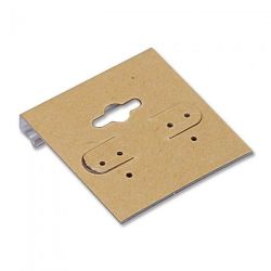 Earring Display Cards 1.5 x 2, Natural Colour, 100 pcs