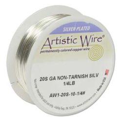Artistic Wire Silver Non-Tarnish, 20g 1/4lb, Approx 26 yards