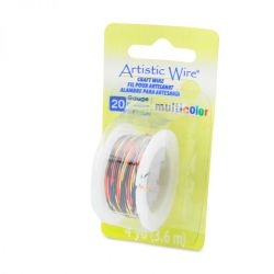 Artistic Wire 20 Gauge Multi Colour - Red, Gold, Black, 4yards
