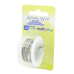 Artistic Wire 20 Gauge Multi Colour - Silver, Gold, Black, 4 yards