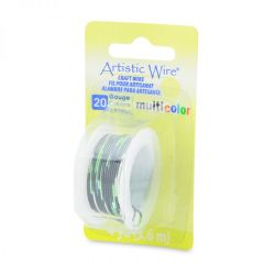 Artistic Wire 20 Gauge Multi Colour - Silver, Green, Black, 4 yards