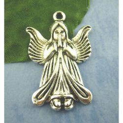 Antique Silver Angel Charm, 35x23mm, 20 pcs
