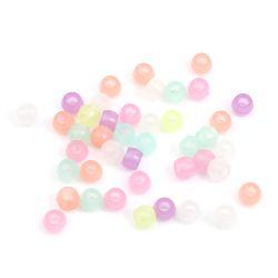 Pony Beads Glow In the Dark, 8mm x 6mm, 1,000pcs