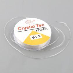 Stretch Translucent Elastic Beading Cord, Crystal Tec, 1.2mm, 10 metres