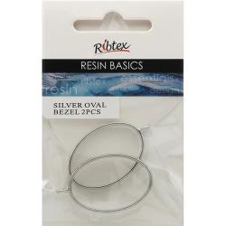 Open Back Bezel Frame Oval Design, 2pcs - For UV Resin