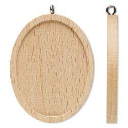 Wood Pendant Setting, Oval, 45x35mm, fits 40x30mm, 8pcs