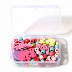Wooden Beading Kit, Koala Design, comes with container