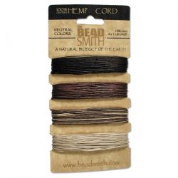 Hemp Cord 4 Colours .55mm Neutral,  The Beadsmith