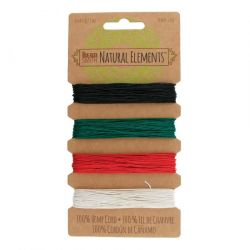 Hemp Cord 4 Colours .55mm primary,  The Beadsmith