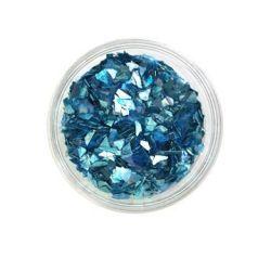 Ice Resin Glass Glitter Shards, Ocean, 13grams