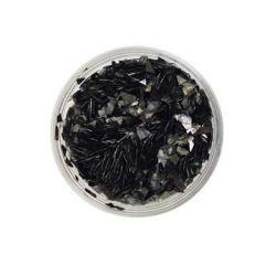 Ice Resin Glass Glitter Shards, Onyx, 13grams