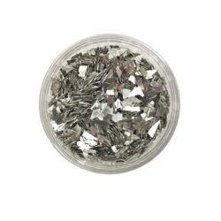 Ice Resin Glass Glitter Shards, Sterling, 13grams