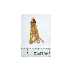 Gold Plate Tassel, 8x35mm 1 piece