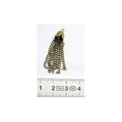 Antique Bronze Tassel, 8x35mm 1 piece
