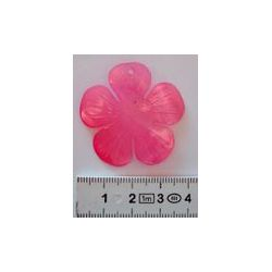 Shell - Hammershell Flower Pendant, 35mm Pink, 1pc