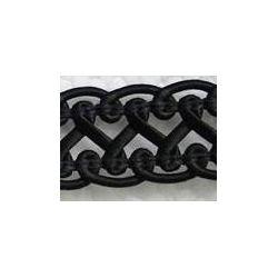 Imitation Leather Braid, Filigree design,18 x 2mm, Black, 1 metre