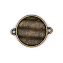 Blue Moon Design Studio Metal Connectors, Round-Oxidized Brass, 5/Pkg 26x20mm