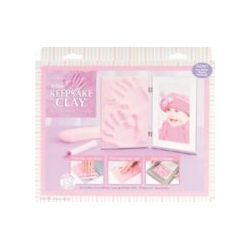 Sculpey - Keepsake Clay Frame Set, Girl (Pink)