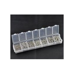 Jump Rings Kits, Antique Silver, Mixed Open 3mm-8mm, (1500 PCs Assorted)