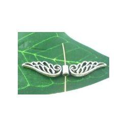 Antique Silver Angel Wings Charm Bead, 53 x10mm, 10pcs