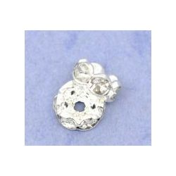 Silver Plated Rondelles Spacer Beads, 6mm 100pcs
