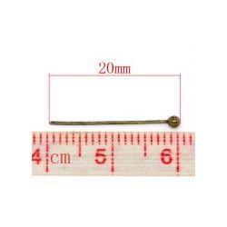 Ball Head Pins, Antique Bronze, 20mm x .5mm, approx 1,000pcs
