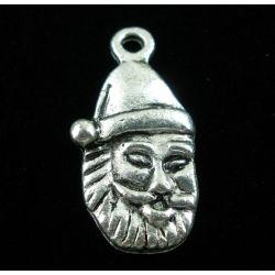 Antique Silver Santa Claus Charms, 23x12mm, 20 pcs