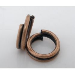 Copper Plate, Split Rings, 5mm, 1,000pcs