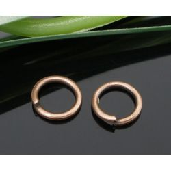 Copper Plate, Jump Rings, 6mm x 0.9mm, 1,000pcs