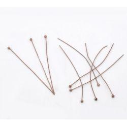 Ball Head Pins, Antique Copper, 50mm x .5mm, approx 300pcs