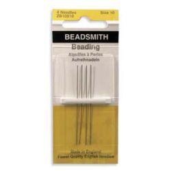 English Beading Needles, Size 10, 4pcs  Beadsmith