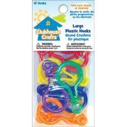 Large Plastic Hooks 12/Pkg - Clubhouse Crafts