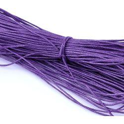 Waxed Cotton Cord, Grape, 1mm, 80 metres