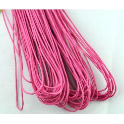 Waxed Cotton Cord, Fuchsia, 1mm, 80 metres