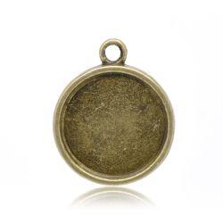 Antique Bronze Frame Settings 28x24mm, (fits 20mm) 20pcs
