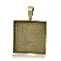 Antique Bronze Frame Settings 38x27mm,(fits 25x25mm) 10pcs