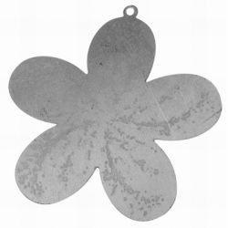 Iron Raw, Flat Flower Pendant, 44 x43mm, 20pcs - great for altered art