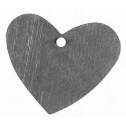 Iron Raw, Flat Heart Pendant,17x20mm, 20pcs - great for altered art