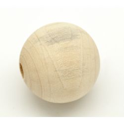 Wooden Beads, 25mm, 30 pieces, Raw (5mm hole)