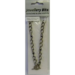 Antique Bronze Plated Oval Link Chain Necklace 10 x 6mm, 1 metre chunky
