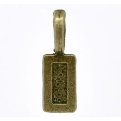 Antique Bronze Plate, Bail 21 x 7mm, Tag shape, glue on pendants  50pcs